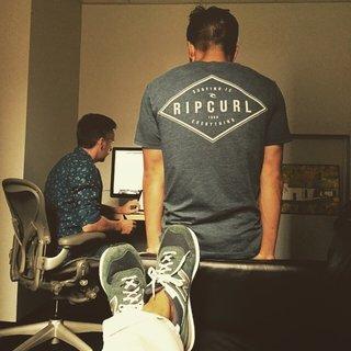 Lance ,Yau , and my feet, back when we first started. #newbalance