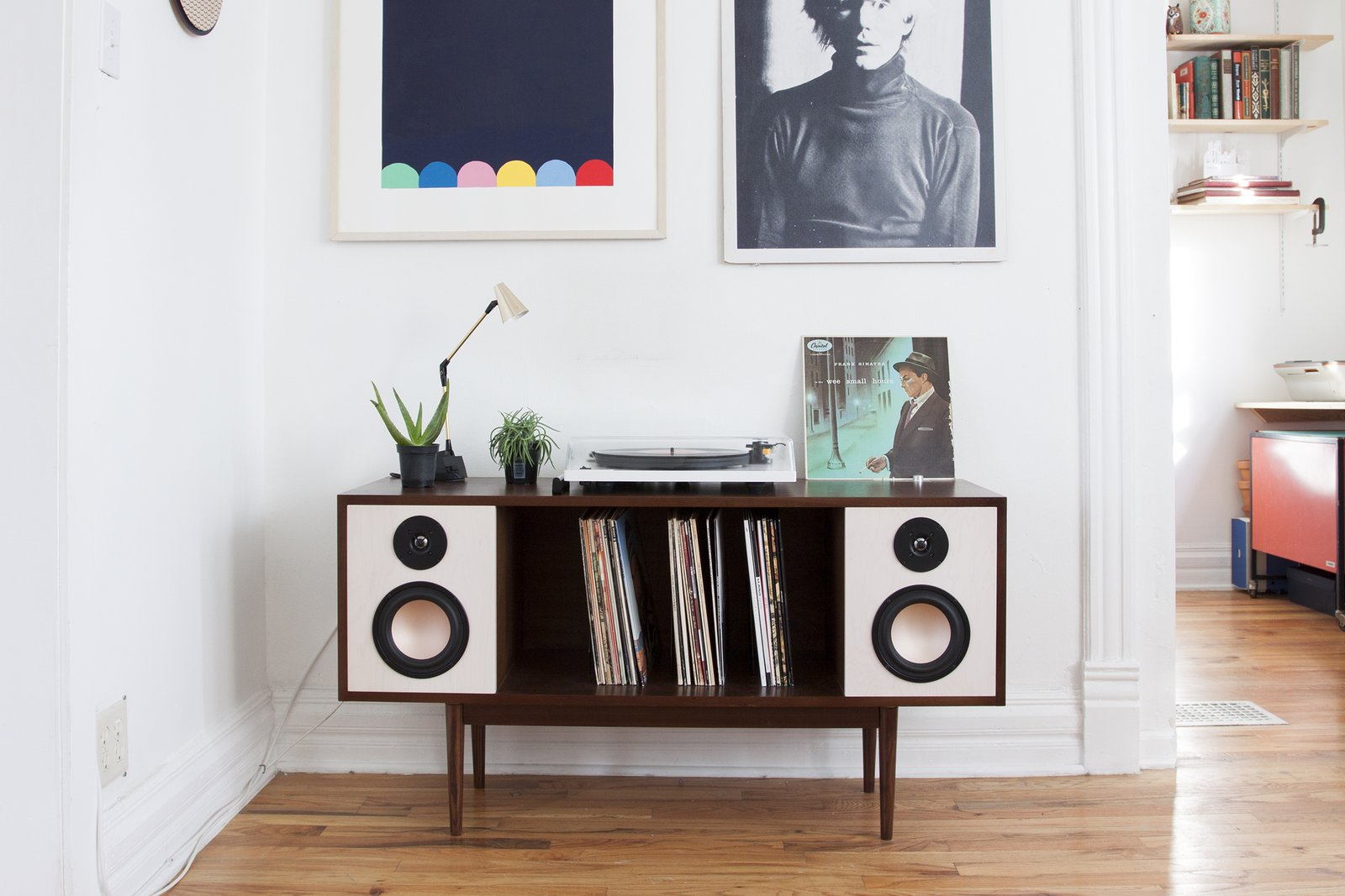 The HiFi Console is a Bluetooth enabled mid-century inspired stereo console. Created by Department Chicago https://www.kickstarter.com/projects/1240320326/the-modern-hifi-stereo-console/description  Sound Style