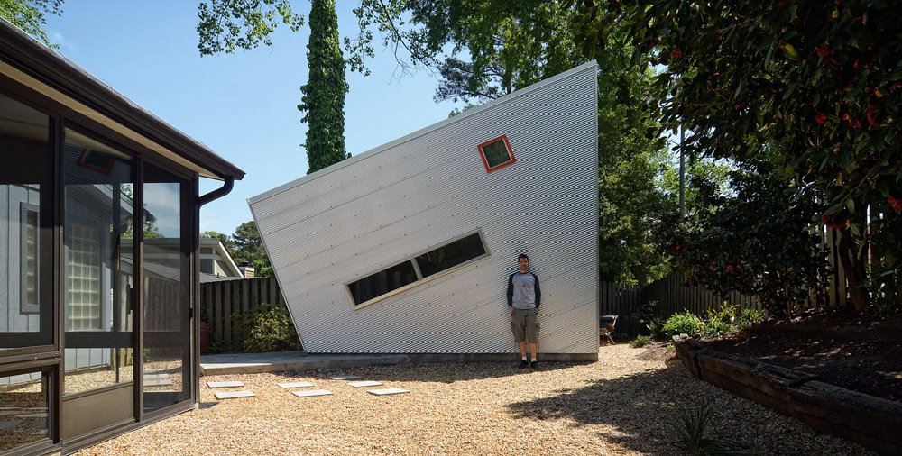Shed & Studio #modernshed #backyard #aluminum #pebbles  Photo 9 of 11 in 11 Extraordinary Designs That Make You Rethink the Modern Shed from Sheds I might build