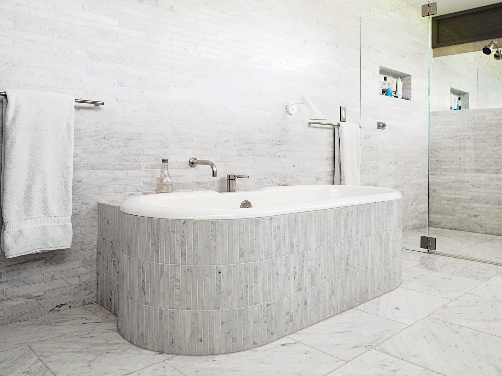 Master bath  The Deam House by Lara Deam