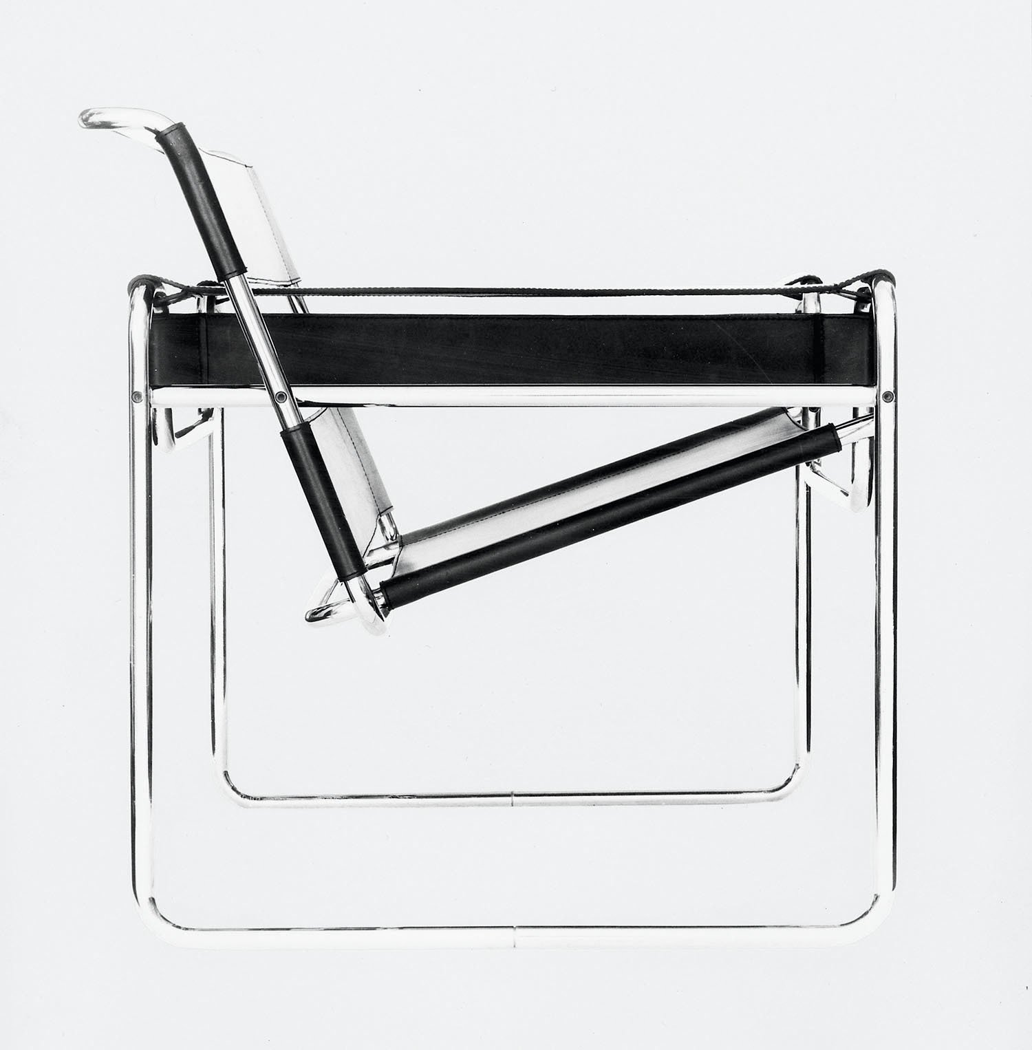 Fascinated by his bicycle, Breuer conducted early experimentations with tubular steel that resulted in the iconic Wassily chair, the first of many furnishings that he made with the material. (1925)  Bicycle, Bicycle from From Bauhaus Student to Brutalist Supreme: Highlights by Marcel Breuer