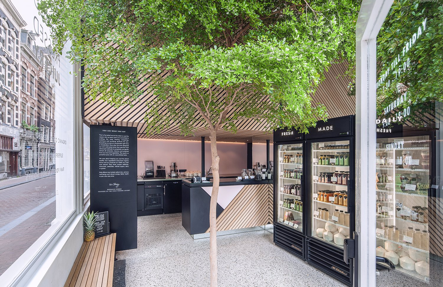Build in Amsterdam is responsible for the shop's graphic identity. Photo by Wouter van der Sar.  Photo 7 of 7 in A Tree Grows in Amsterdam