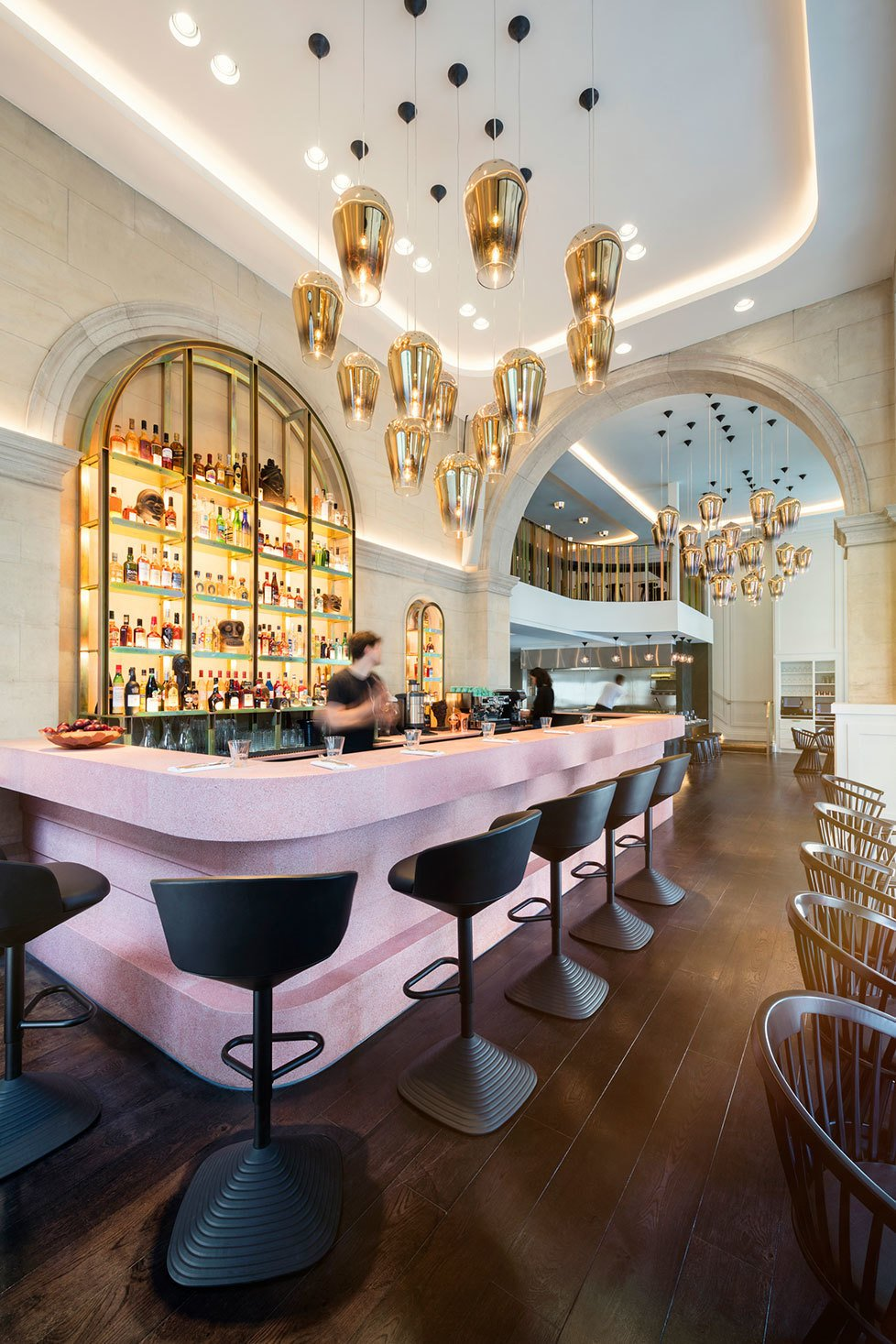 Bronte restaurant in London by Design Research Studio. Creative direction by Tom Dixon. Courtesy of Tom Dixon.  Hospitality Favorites