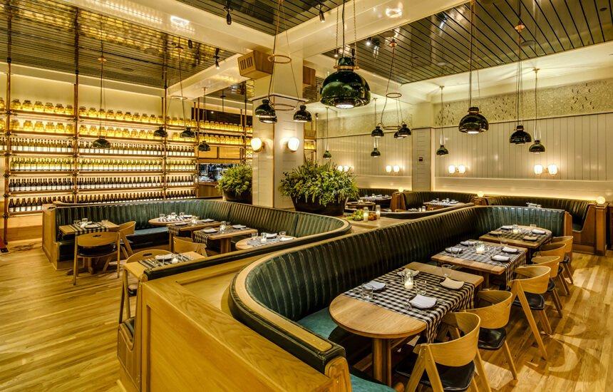 Upland restaurant by Roman & Williams. Courtesy of Upland.  Hospitality Favorites