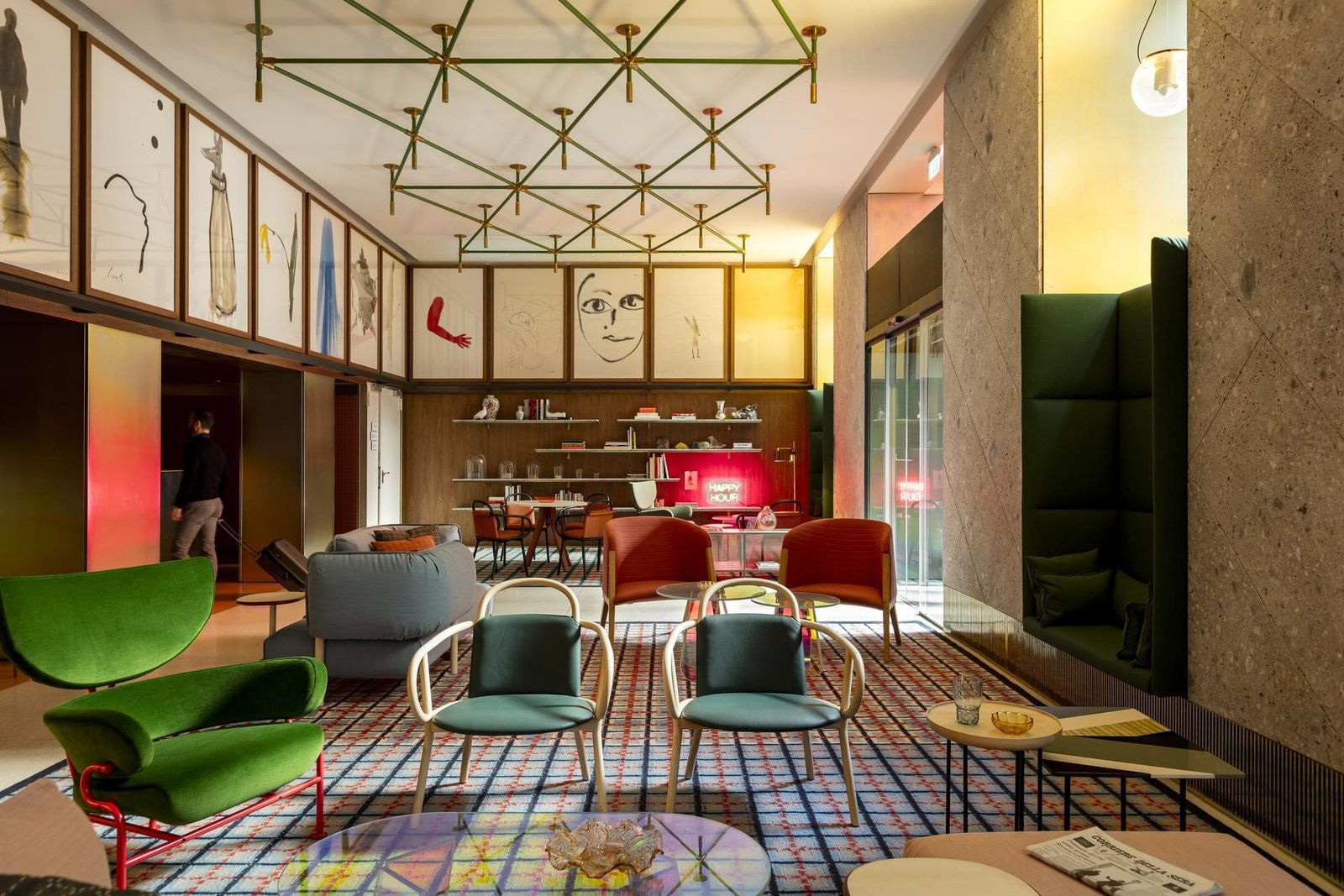 Room Mate Giulia Hotel by Patricia Urquiola in Milan. Courtesy of Room Mate Giulia Hotel.  Hospitality Favorites