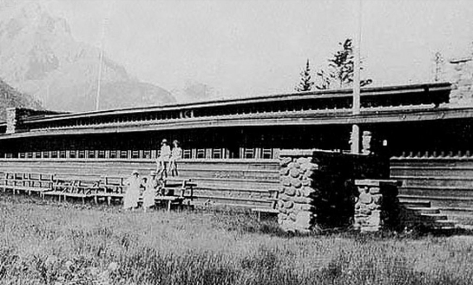 A historical photo of the pavilion, which was designed in 1911 and constructed in 1914.  Photo 4 of 5 in Demolished Frank Lloyd Wright Structure in Banff May Be Rebuilt