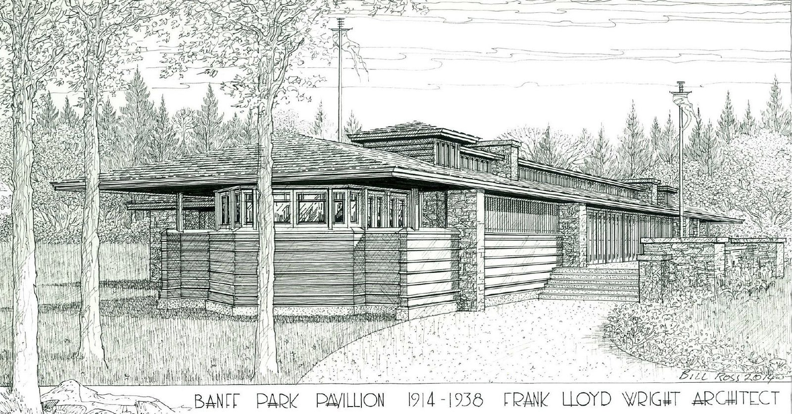 The structure may be reconstructed following a proposal led by the Frank Lloyd Wright Revival Initiative.  Photo 5 of 5 in Demolished Frank Lloyd Wright Structure in Banff May Be Rebuilt