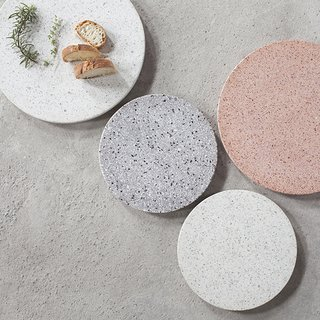Terrazzo platters from Serax feature an innovative use of the building material.