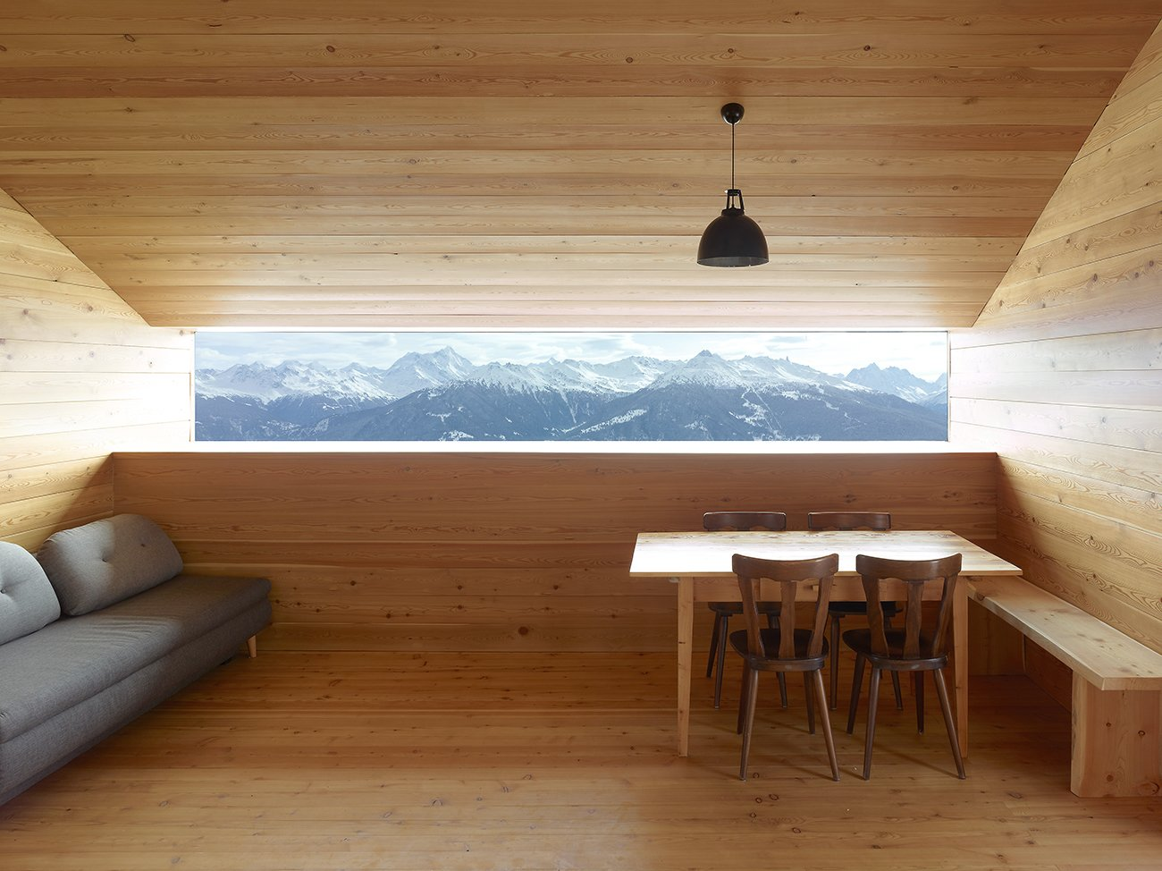 Boisset Home in the Alps of Le Biolley, Switzerland; Architects: Savioz Fabrizzi Architects; Photo by Thomas Jantscher  Woodgrain from Cabin Fever