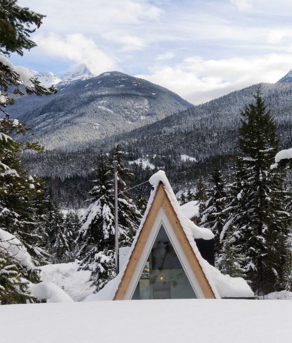 A-frame cabin in Whistler, Vancouver; Architects: Scott and Scott  Modern Spaces in the Pacific Northwest by William Lamb from Cabin Fever