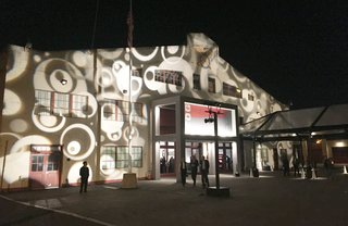 On the night of the special preview gala at the Fort Mason Festival Pavilion, we found ourselves entering an illuminated facade, leading into somewhat of a dream space.