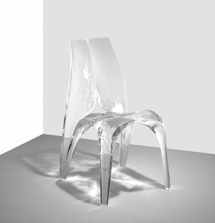 The waves and ripples turn these furniture pieces into fluid art forms, seemingly frozen in time.