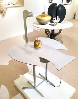 We were excited to see such a fun piece by Lalanne. The late French artist was known for creating a whole world of surrealistic animal sculptures that often doubled as utilitarian pieces.