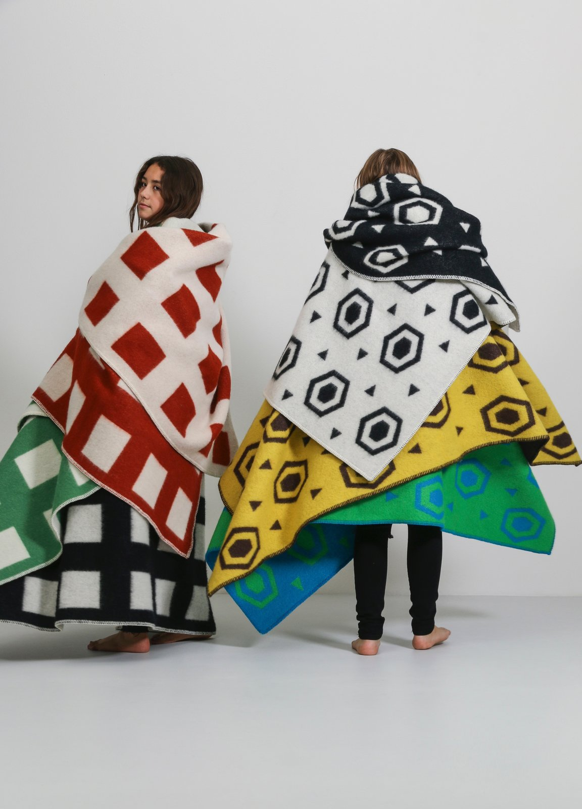 The CoopDPS throws and blankets are made of 100 percent woven New Zealand jacquard wool.  Photo 5 of 8 in Q&A With the Design Duo Behind a Playful Textile Collection