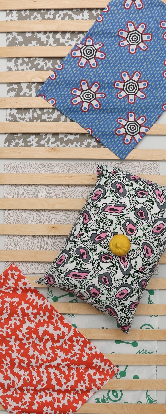 The duvet covers and bed pillows are made of 100 percent percale cotton and come in multiple playful patterns, all of which can easily be mixed and matched.  Photo 8 of 8 in Q&A With the Design Duo Behind a Playful Textile Collection