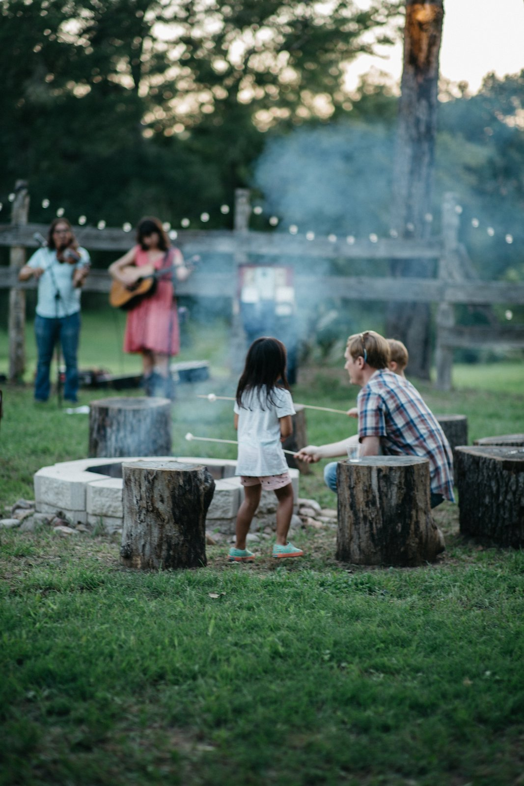 Outdoor A corral fire pit brings everyone together, whether it's to roast marshmallows or listen to some acoustic tunes.  Photo 7 of 8 in A Texas Camping Spot Complete With Yurts and Miniature Donkeys