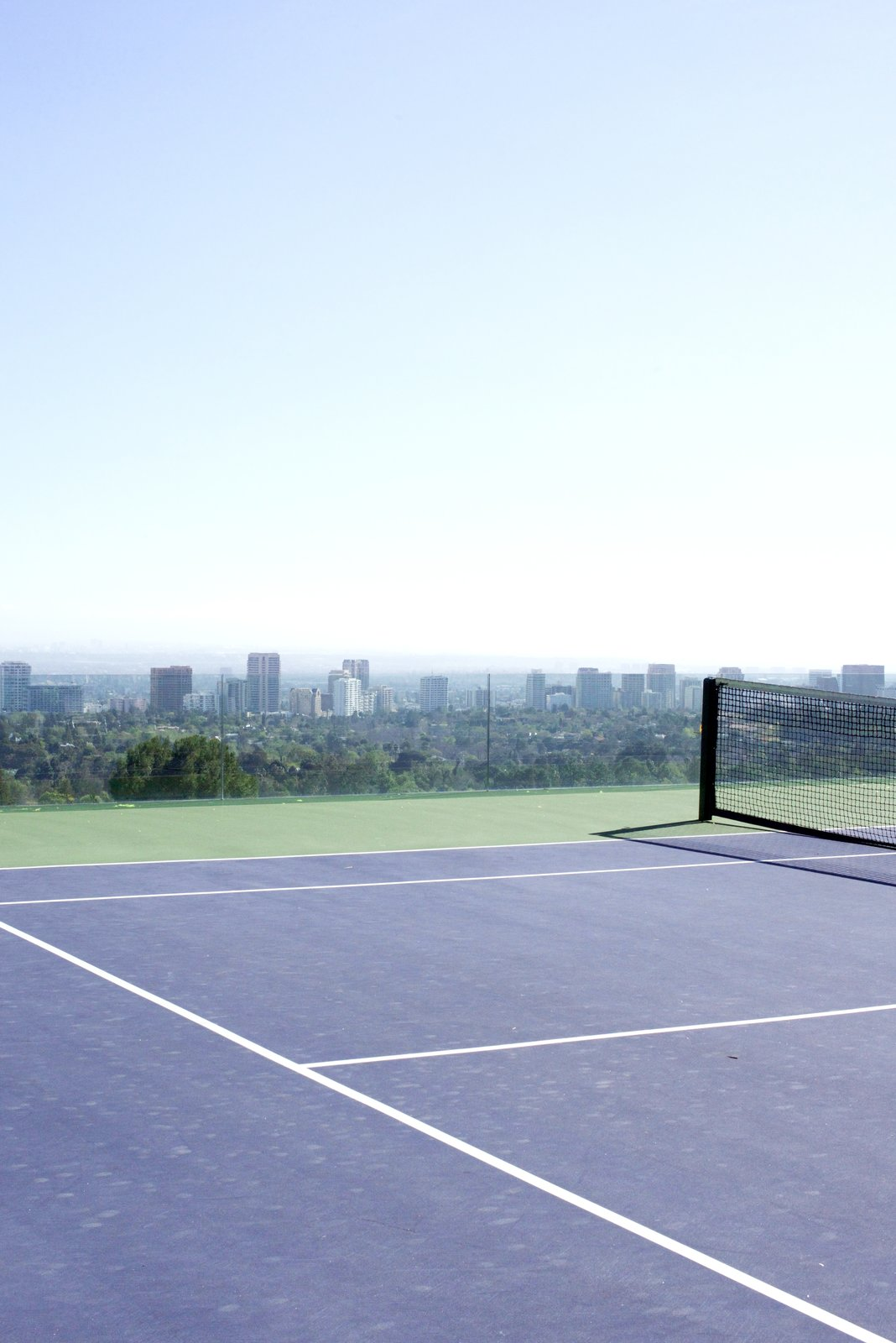 It holds L.A.'s only infinity tennis court.  Behind the Scenes at John Lautner's Sheats-Goldstein Residence