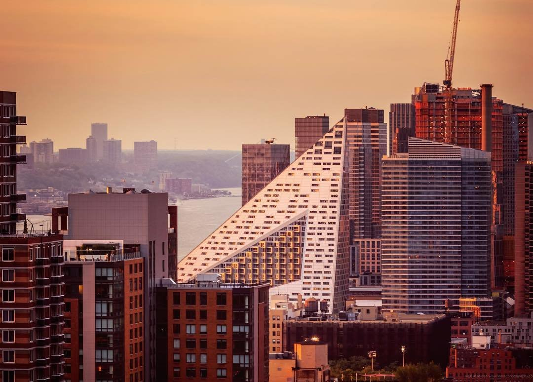 #via57west #manhattanskyline #bjarkeingelsgroup  Photo 3 of 3 in A Pyramid Rises in the Middle of Manhattan