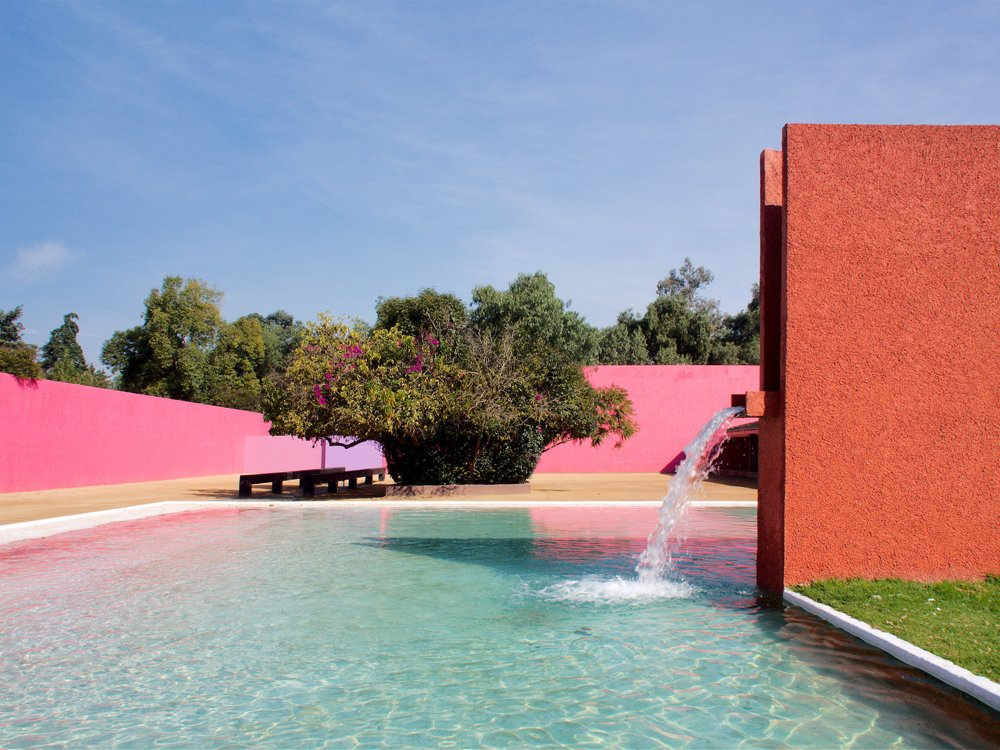 Cuadra San Cristóbal #luisbarragan  POOL from The Vivid Colors and Textures of Luis Barragán