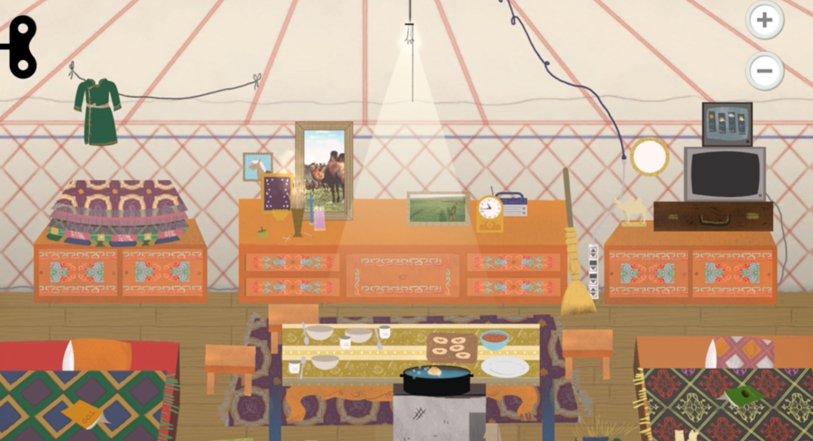 Park creates depictions of homes from across the world that focus on the most minute details. This is intended to spark questions, and to teach children about different cultures. They aim to include as many authentic cultural details as possible for each location.  Photo 5 of 5 in Watch How One Company Brings Timeless Design to Educational Apps For Kids