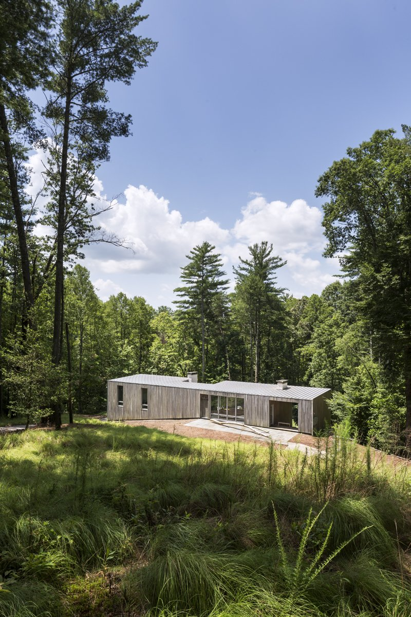 #dwelllpow  Photo 3 of 5 in A Cypress-Clad Lake House Posted Up on an Old Logging Road