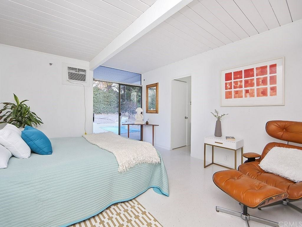 The house has four bedrooms and two updated bathrooms. Nothing is far from the outdoor living spaces.  Photo 7 of 8 in This Quintessential Eichler Will Hit All Your Midcentury Goals—and It's For Sale