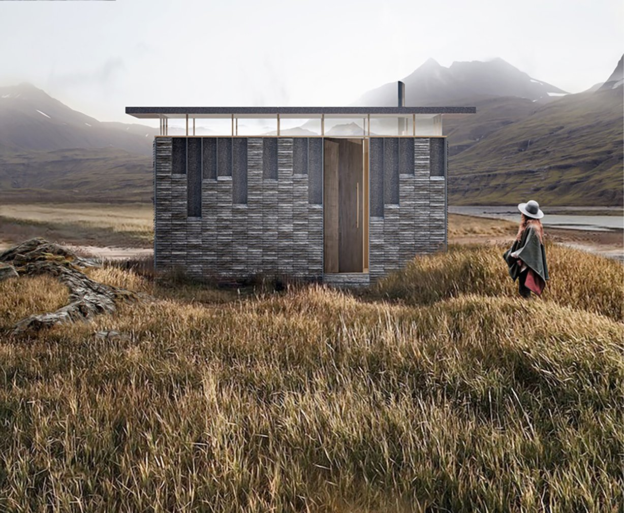 TRIAS' Slate Cabin  Photo 5 of 9 in A Design Competition Unveils a Pop-Up Hotel Concept That's Soon to Hit the Welsh Countryside