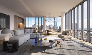 With interiors designed by RDAI, the 115 residences are being created to optimize function, views, and utilization of space. The floors will be made of six-inch white oak plank floors.