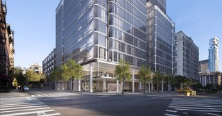 When you first enter from Broome Street, you'll be led through a gated motor court and circular driveway, where there will be an automated, private parking system.