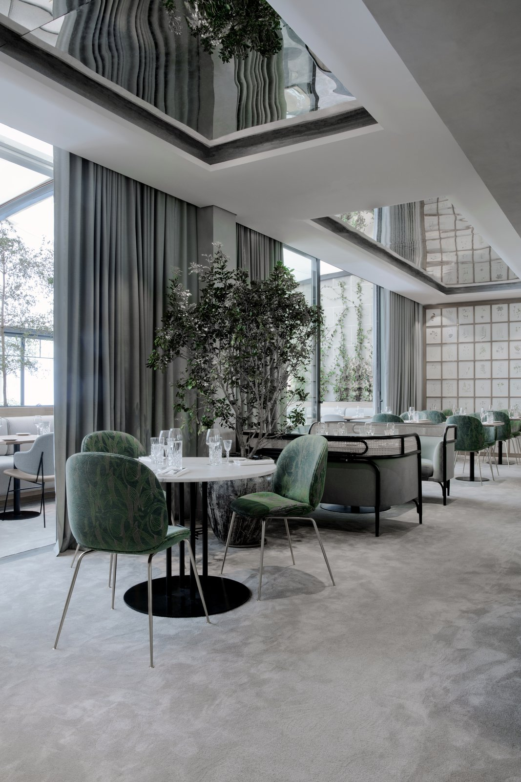 Flora Danica offers an abundance of natural light and direct access to the terrace from the large, Scandinavian-style dining room.  Photo 3 of 10 in The Revived Maison du Danemark Brings Two New Danish Restaurants to Paris