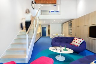 Bright Colors and Sleek White Oak Fill This Playful Lake Tahoe Loft