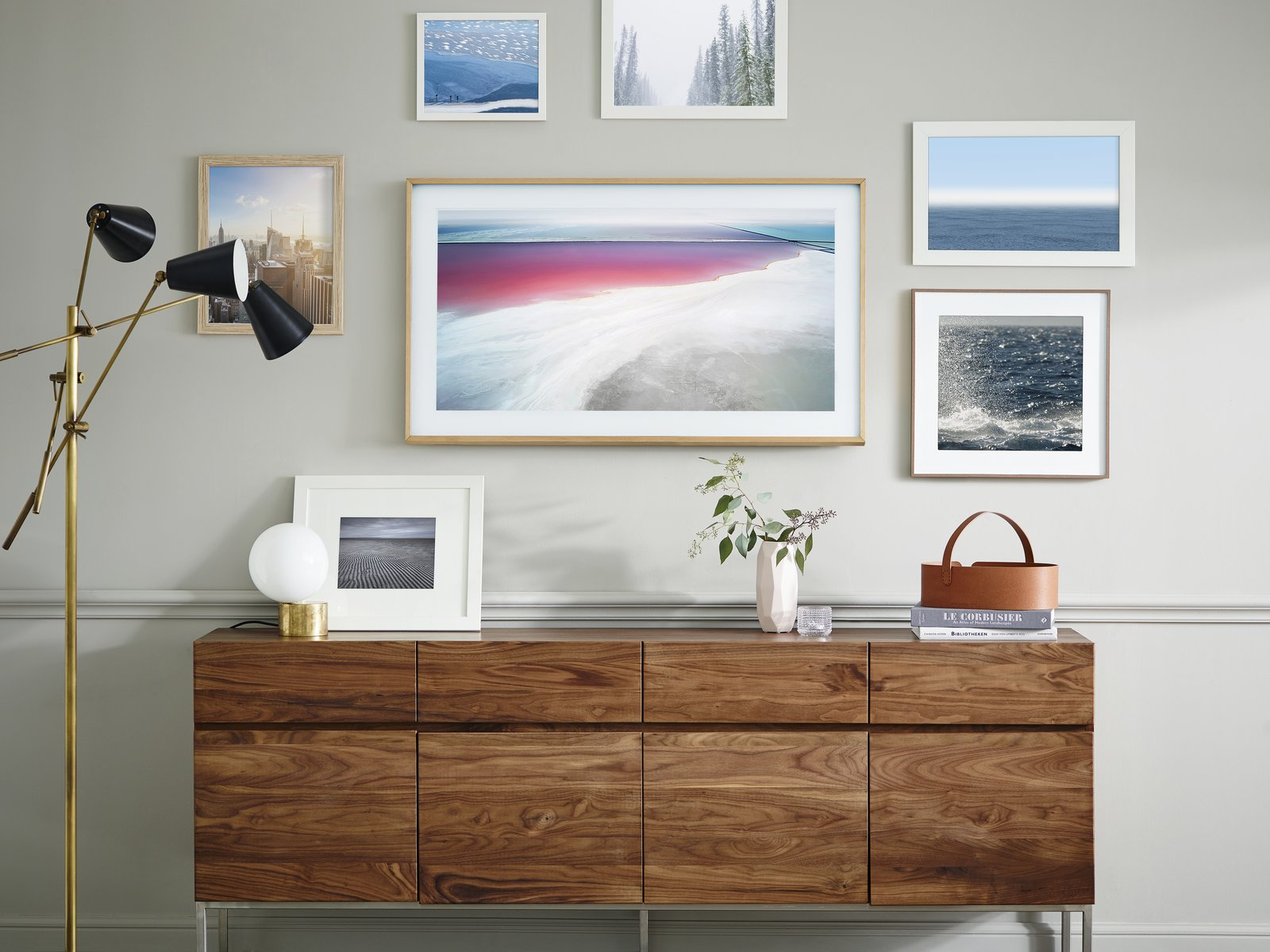 Rather than allowing your TV to take up valuable wall space while not in use, you can now bring a multifunctional and inspiration art gallery to your home that you can enjoy each and every day.  Photo 2 of 5 in The Frame by Yves Behar for Samsung