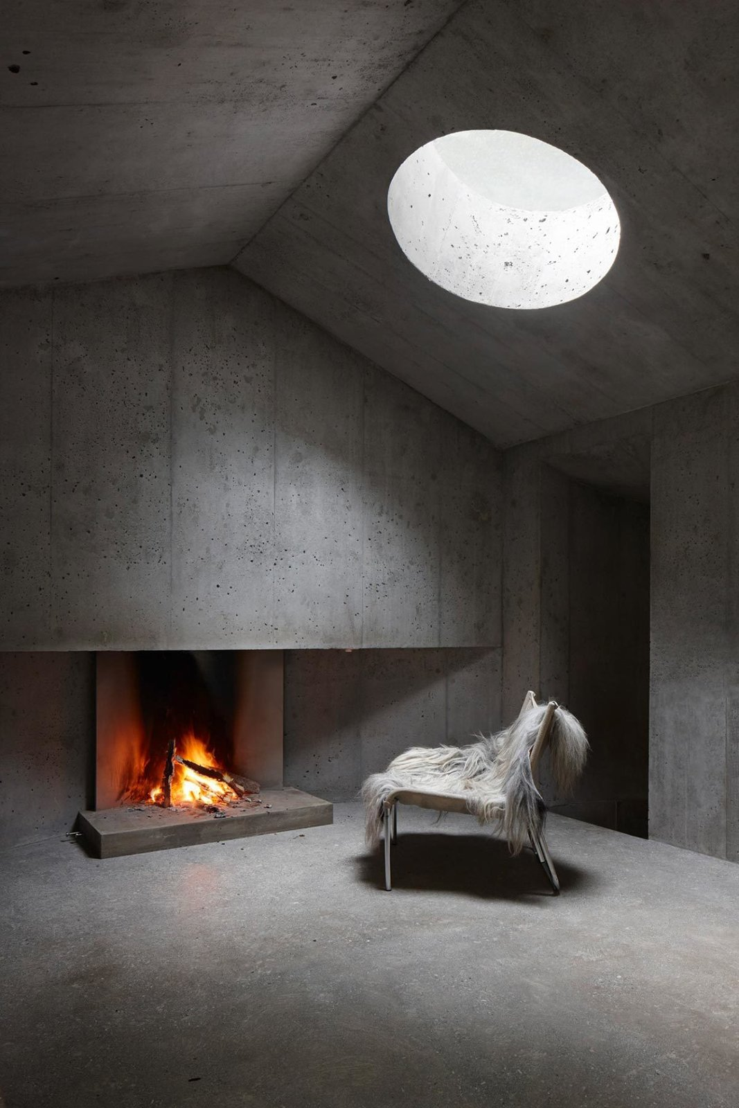Concrete Shelter in the Image of a Cabin  Brutal Beauty