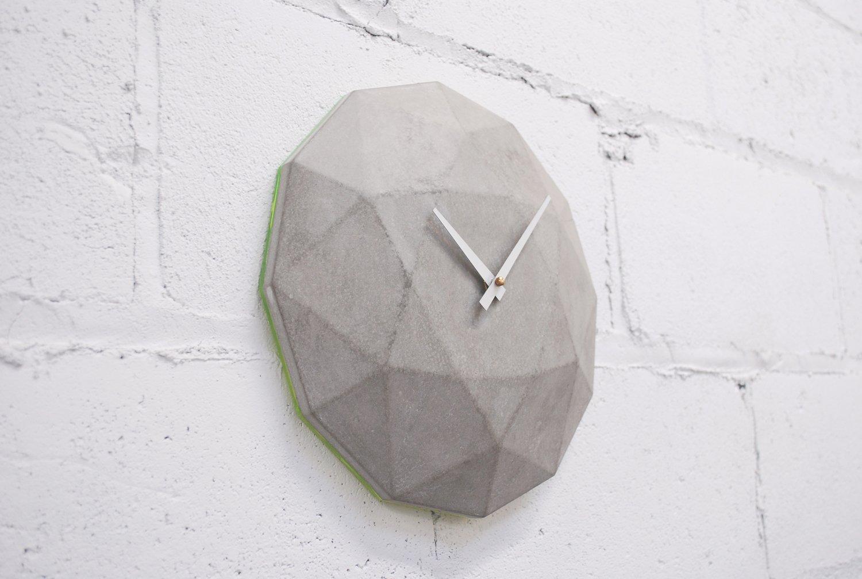 Cairo Star Cut Concrete Clock  Brutal Beauty
