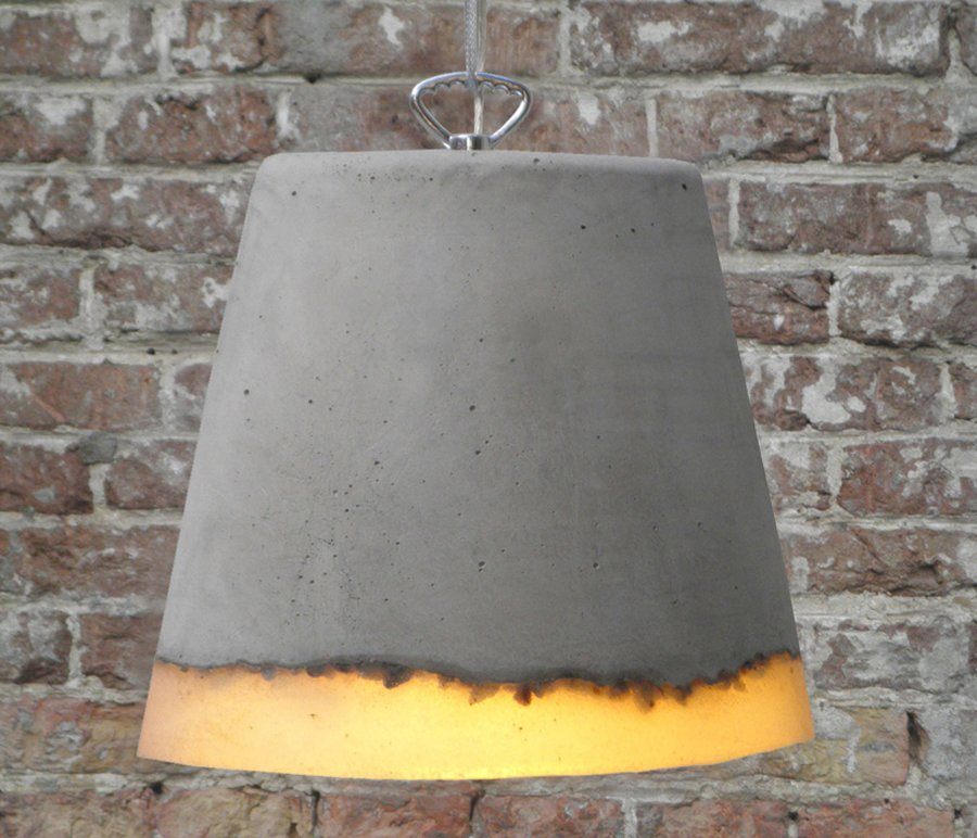 Concrete Hanging Lamps by Renate Vos  Brutal Beauty
