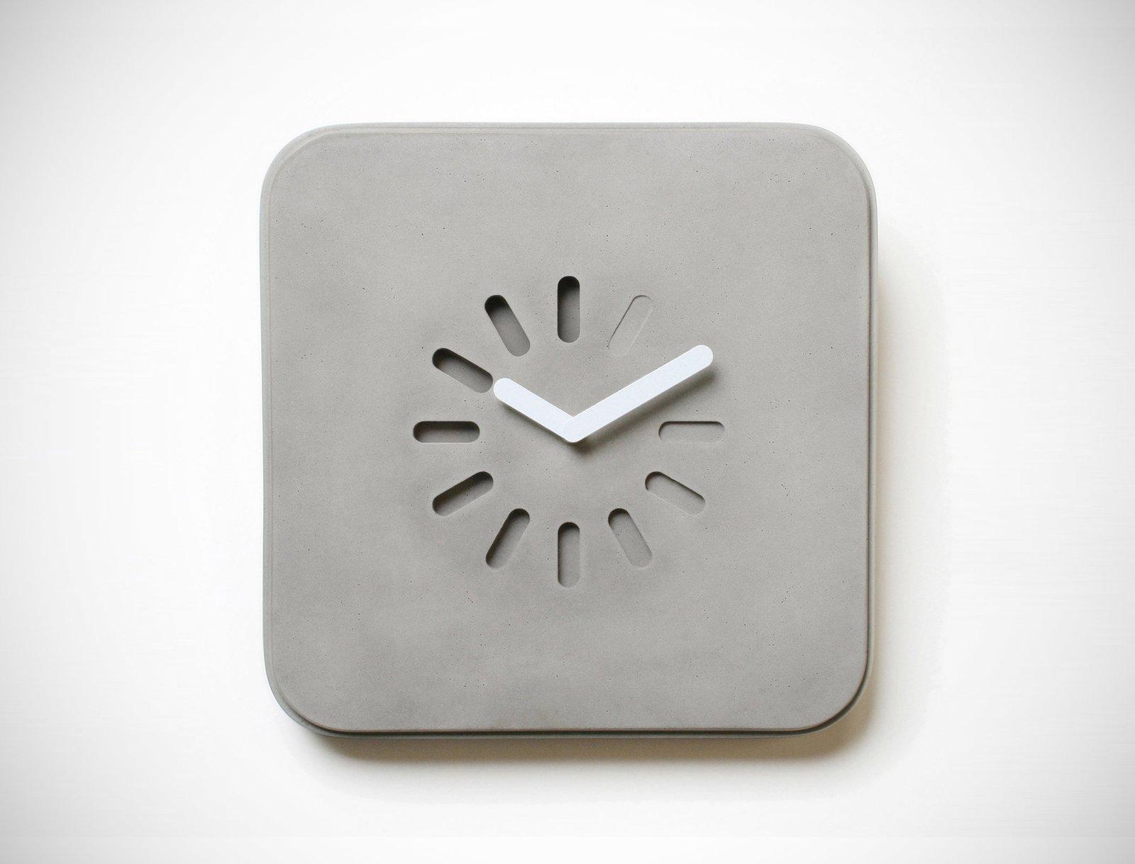 Life in Progress Concrete Clock  Brutal Beauty