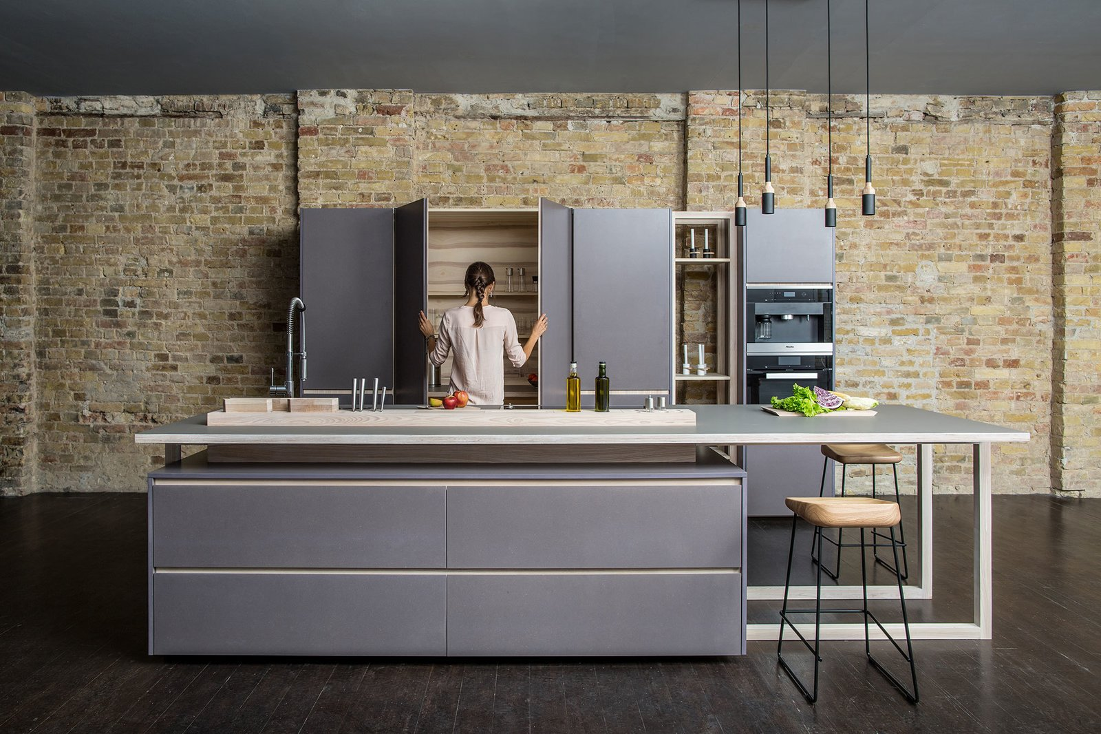 Kitchen and Pendant Lighting This kitchen combines functionality and affordability with minimalism and clean lines. The solid wood and plywood are completed with MDF panels and come in two options, natural oiled or varnished.  Photo 1 of 4 in Chia Kitchen
