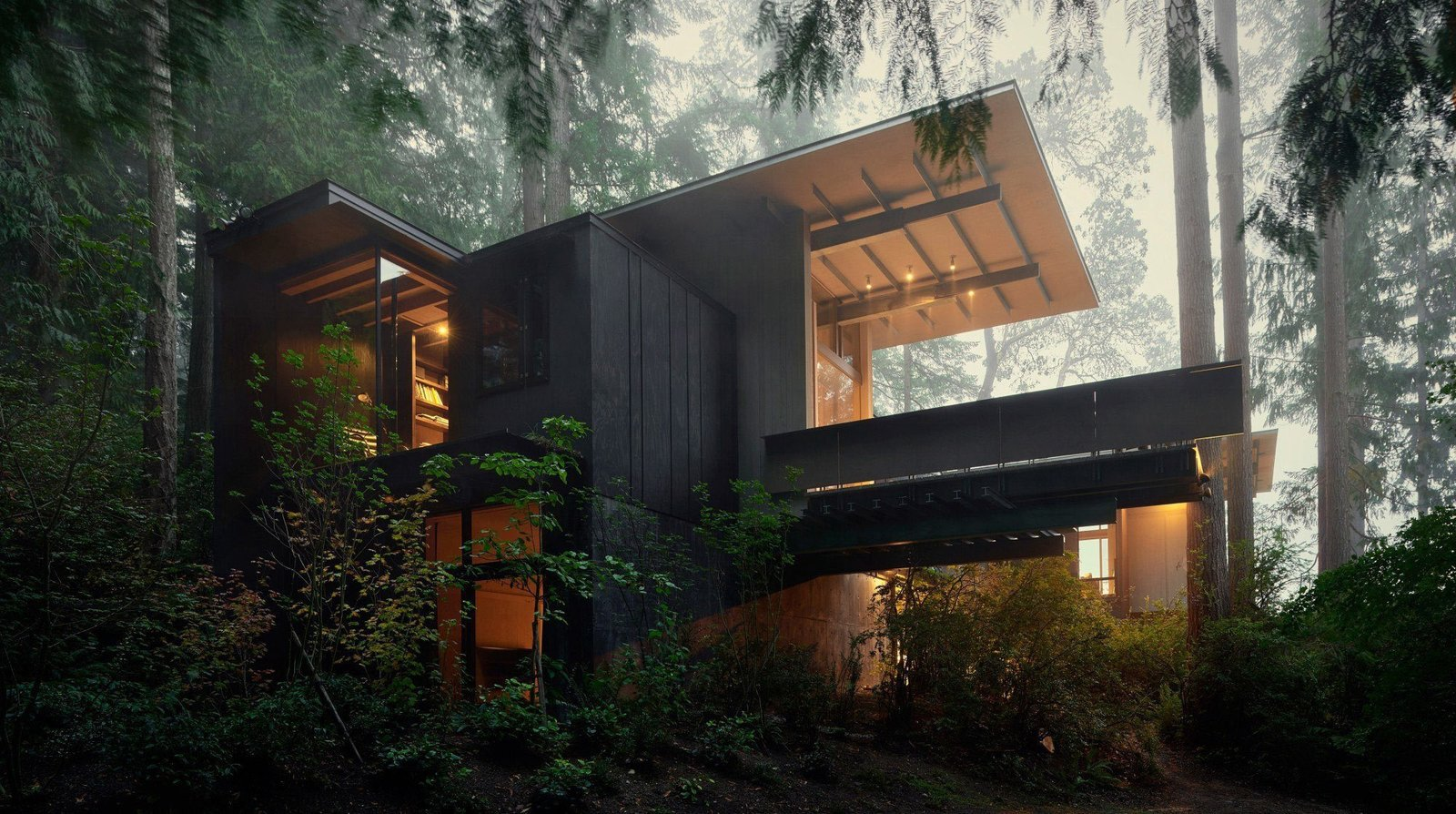 Exterior and Cabin Building Type Jim Olson's #cabin at Longbranch Washington #olsonkundig  Best Photos from Small and Quiet