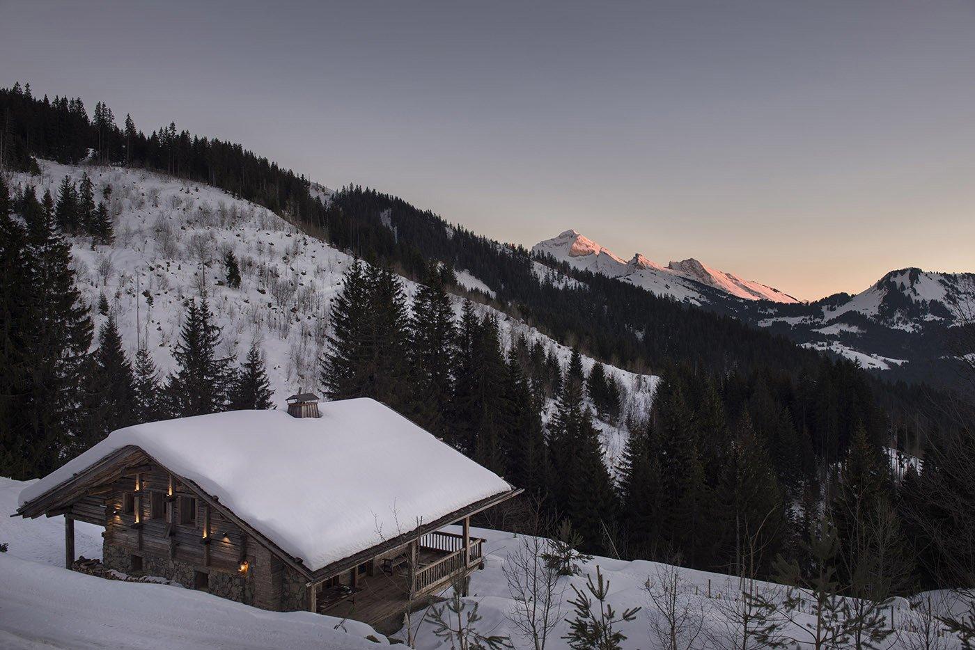 Sylvie Blanchet's chalet in the French Alps   Modern Winter Retreats from Peak Season