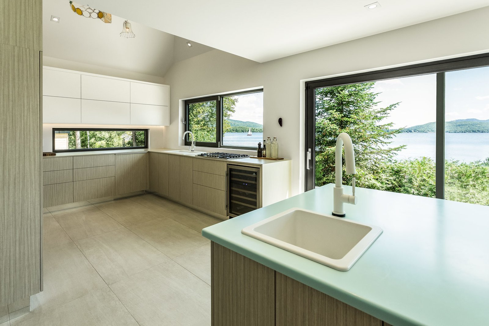 A Rustic Cottage Transformed Into A Sleek Contemporary House  Kitchen Love