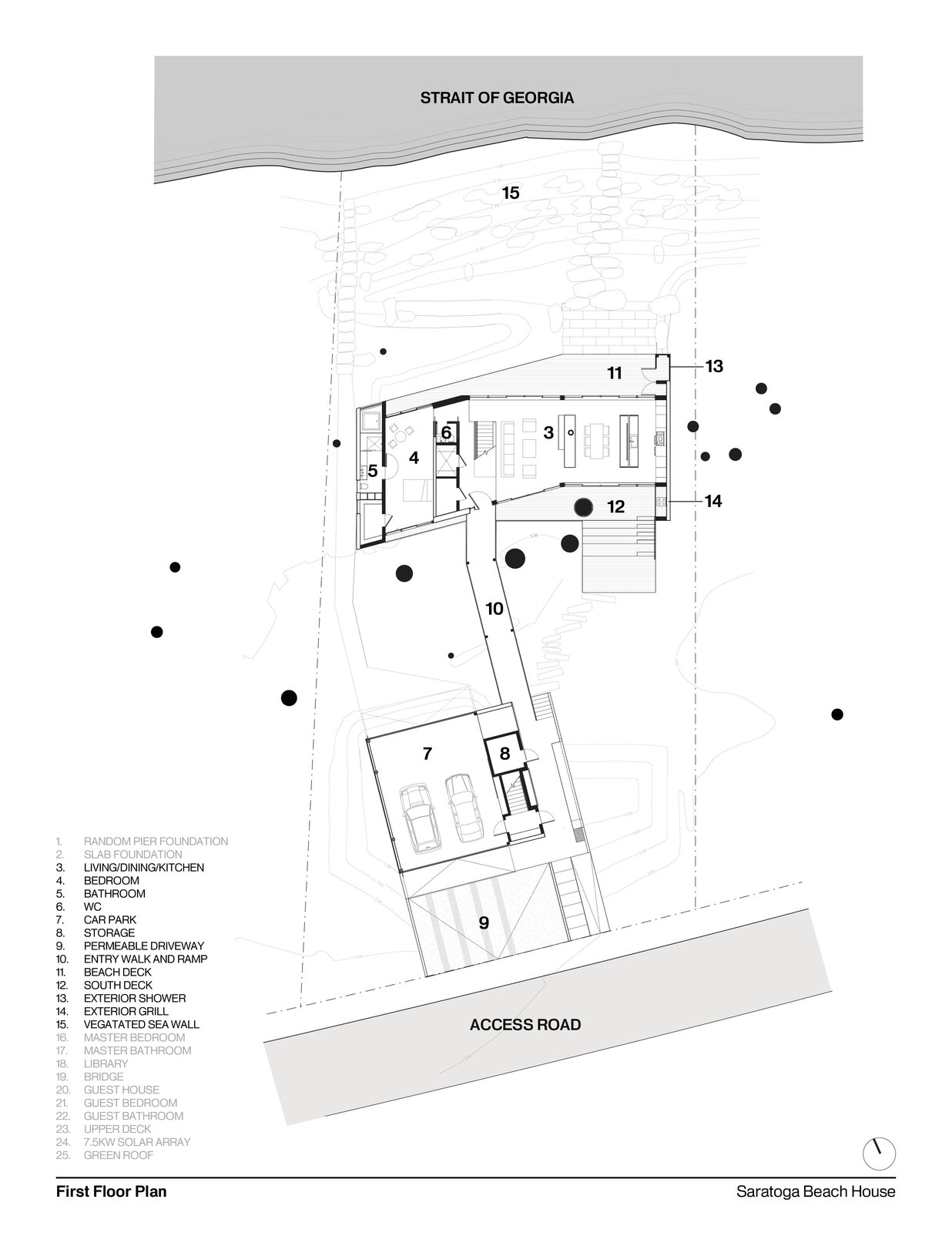 First Floor Plan   #intersticearchitects #interstice #floorplan #residentialarchitecture #residence  TreeHugger