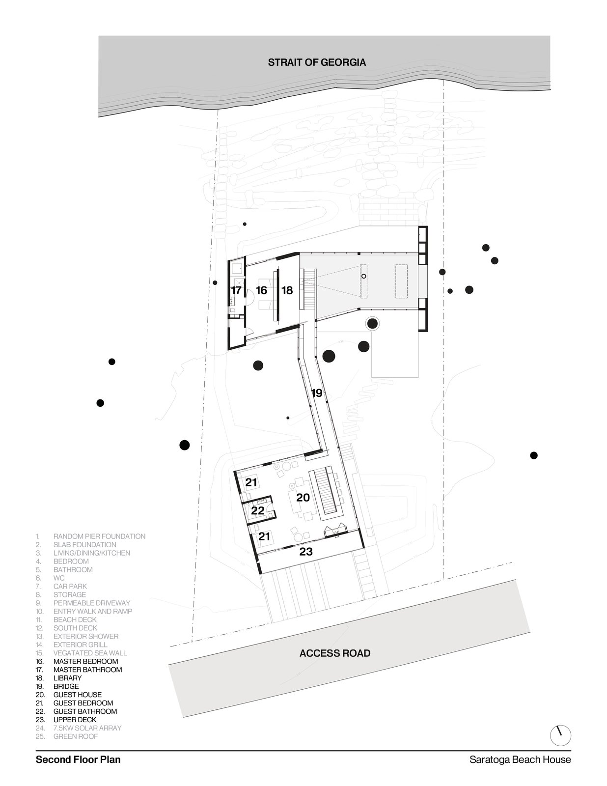 Second Floor Plan   #residentialarchitecture #residence #interstice #floorplan #intersticearchitects   TreeHugger