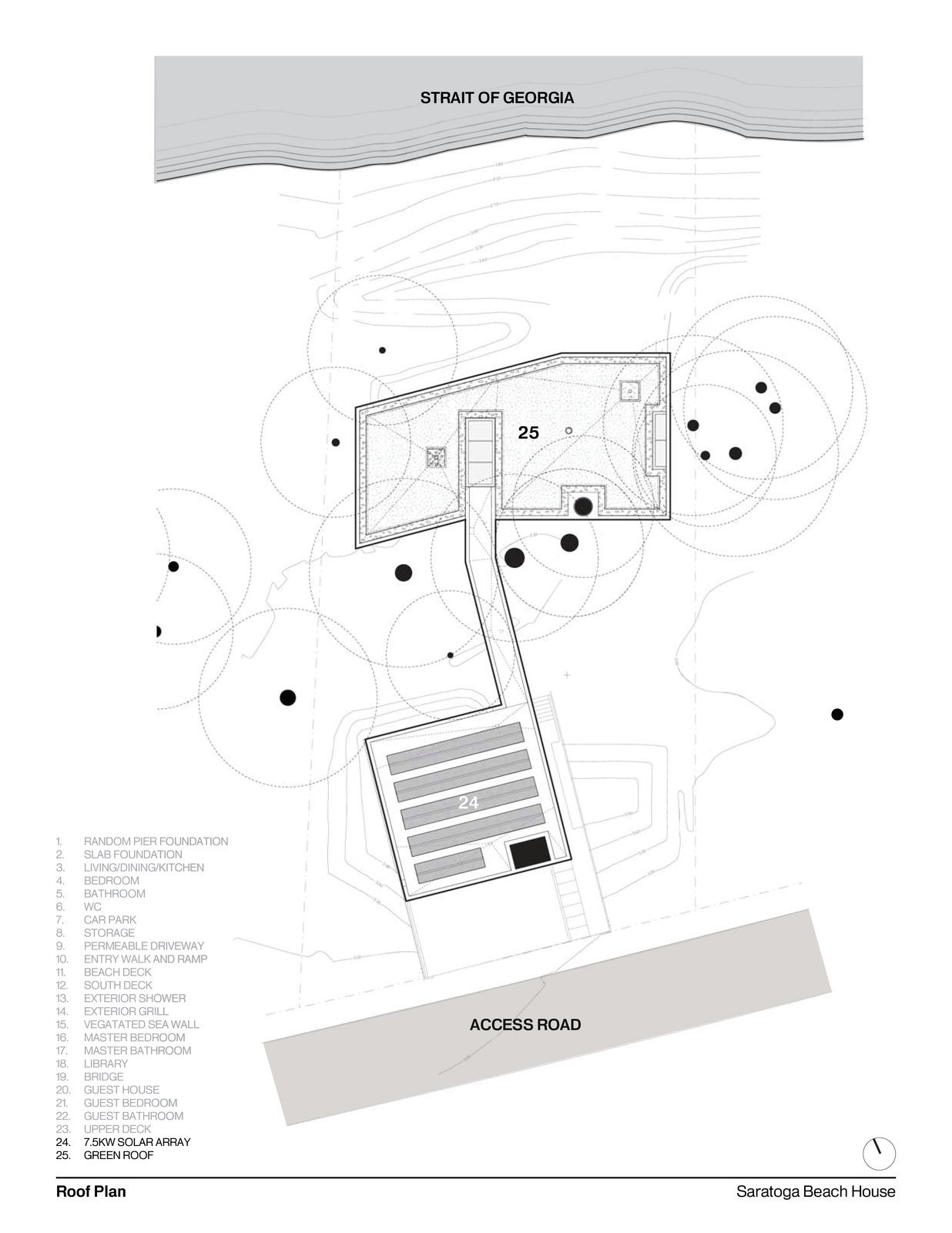 Roof Plan   #intersticearchitects #interstice #floorplan #plan #residentialarchitecture #residential   TreeHugger