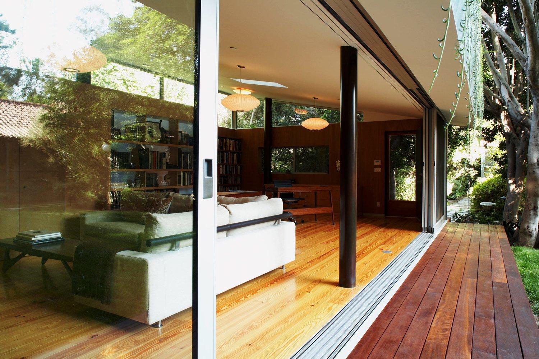 #LushHouse #modern #midcentury #hillside #seclusion #lighting #exterior #outside #door #wood #step #windows #detail #glass #indoor #livingroom #furniture #BeverlyHills #KingsleyStephensonArchitecture  Lush House