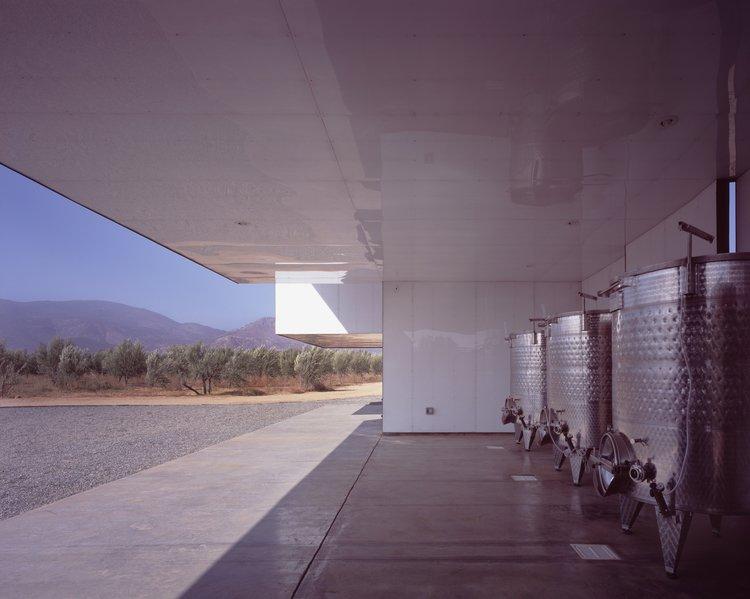 #SebastianMariscal #exterior #landscape #steel #wine #vintner  Vinicola Esere by Sebastian Mariscal Studio