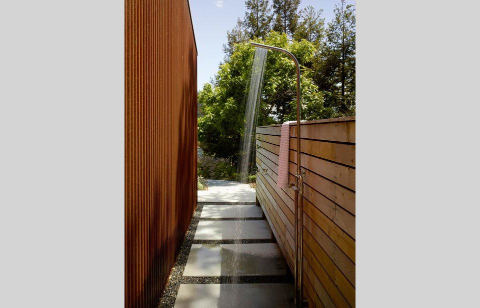 #TurnbullGriffinHaesloop #outdoor #exterior #landscape #bathroom #shower  Cloverdale Residence