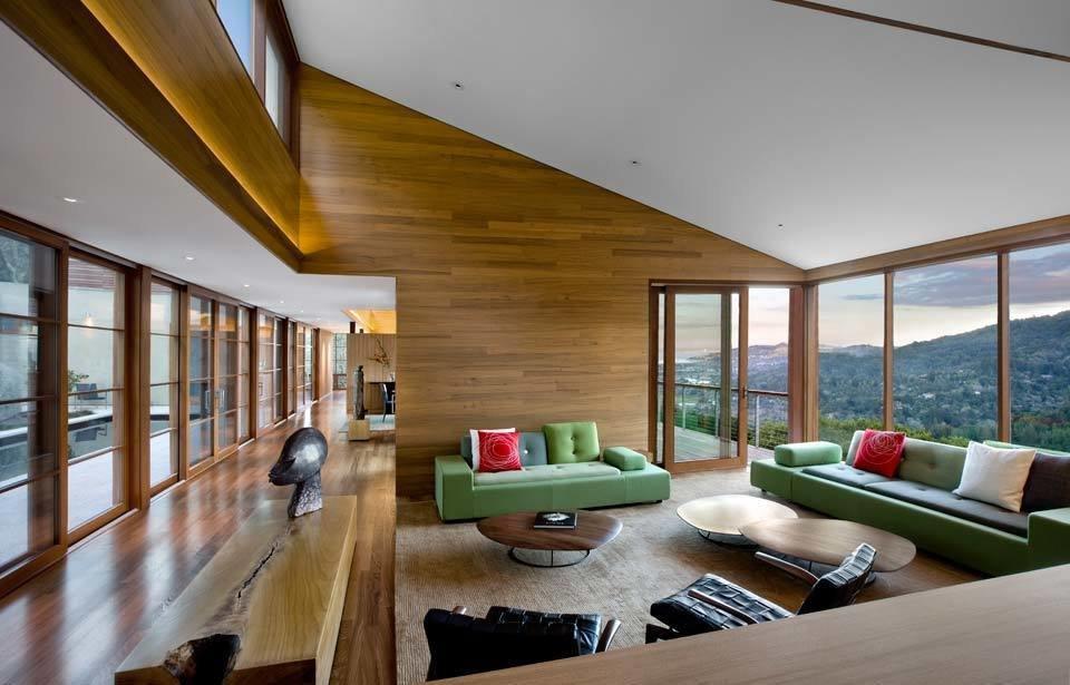 #TurnbullGriffinHaesloop #interior #inside #indoor #livingroom #window  Kentfield Residence