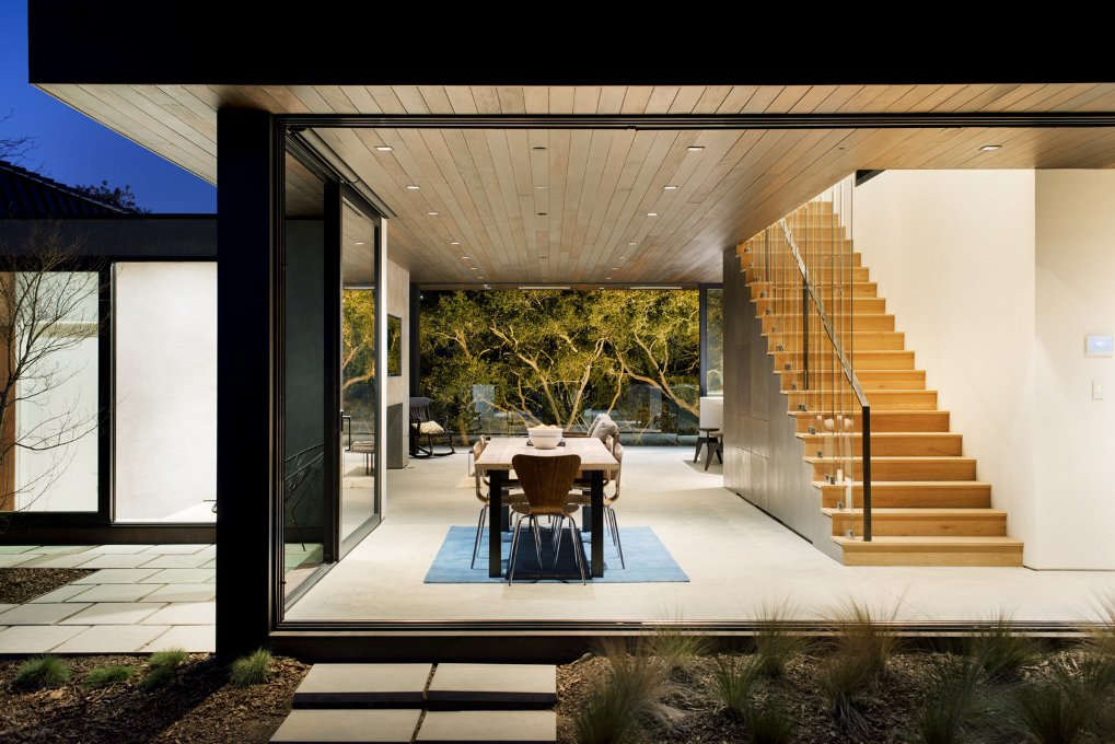 #WalkerWorkshop #exterior #outdoor #outside #landscape #interior #diningroom #stairs   Oak Pass Guest House