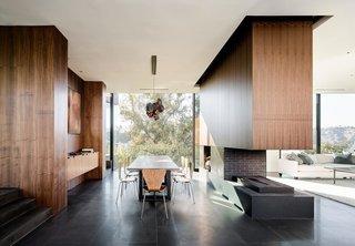 #WalkerWorkshop #interior #inside #indoor #lighting #window #diningroom #fireplace #livingroom