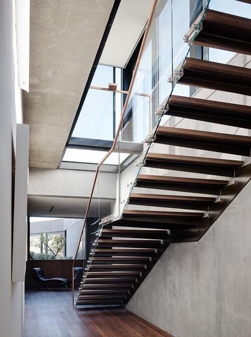 #WalkerWorkshop #interior #indoor #inside #stairs #concrete  Oak Pass Main House